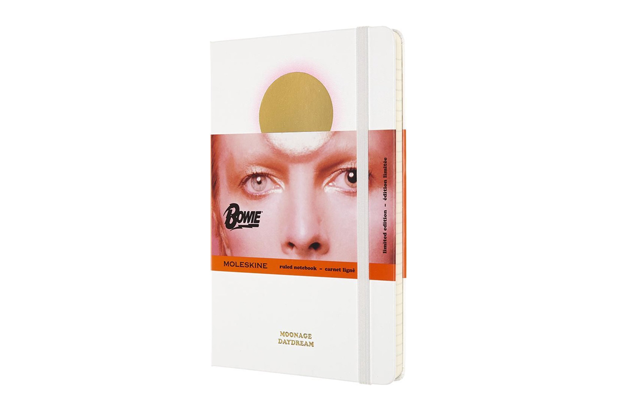 Moleskine Bowie Limited Edition Ruled Notebook Large White