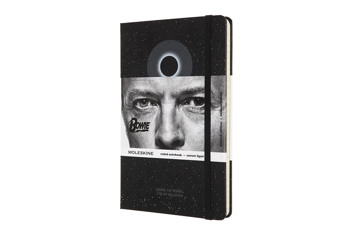 Moleskine Bowie Limited Edition Ruled Notebook Large Black