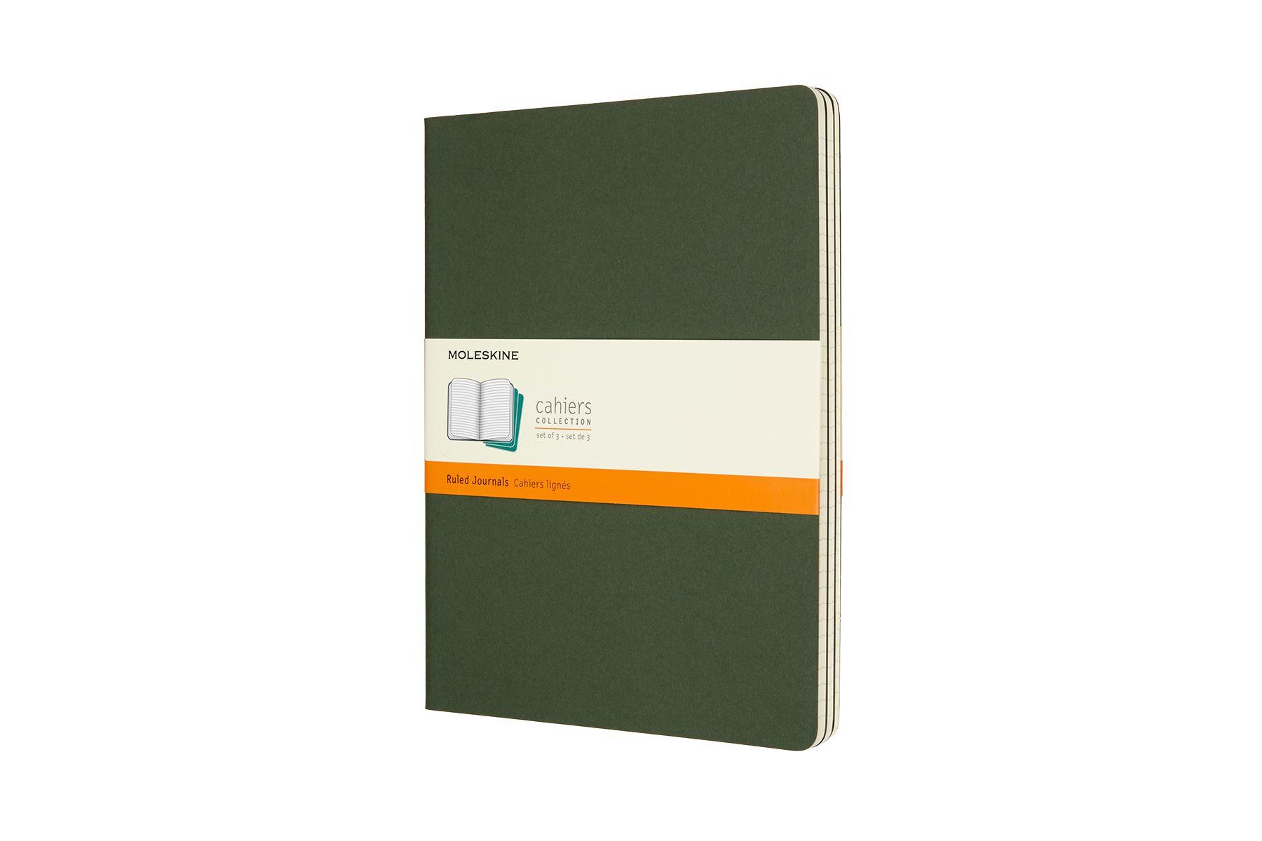 Moleskine Cahier Ruled Notebook XL Myrtle Green