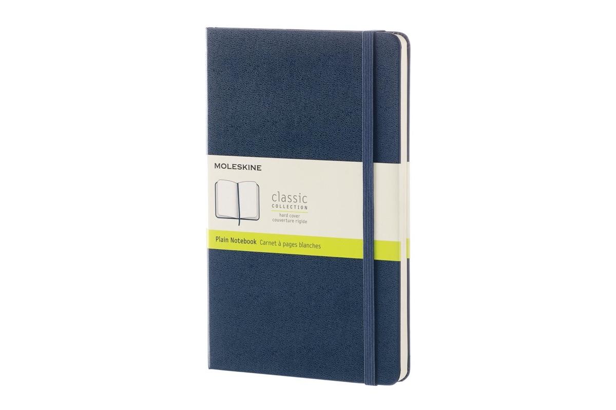 Moleskine Plain Hard Cover Notebook Large Sapphire Blue