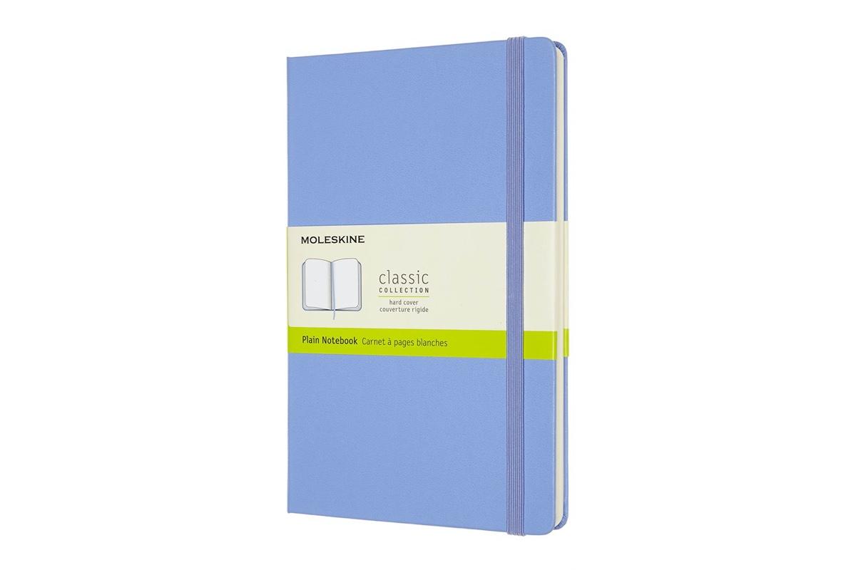 Moleskine Plain Hard Cover Notebook Large Hydrangea Blue
