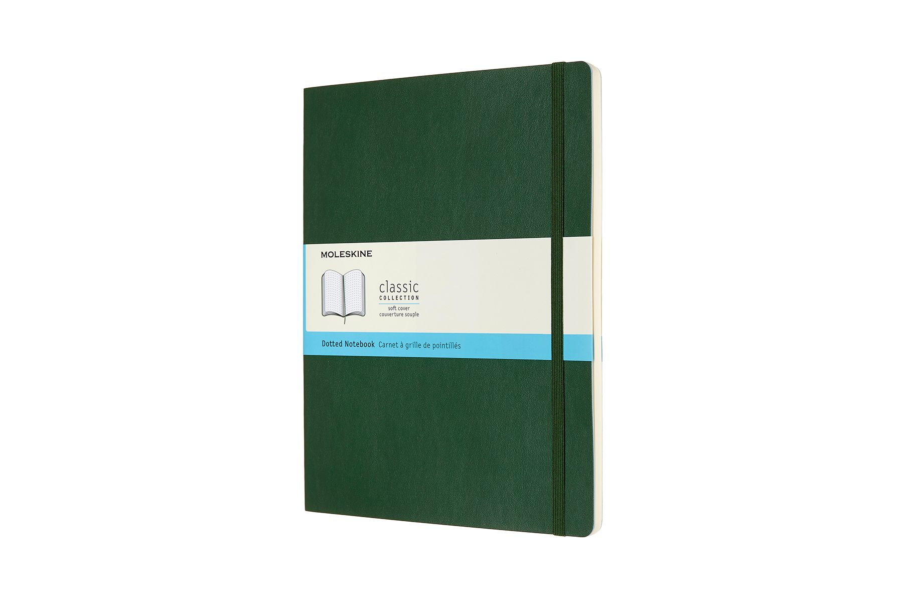 Moleskine Dotted Soft Cover Notebook XL Myrtle Green