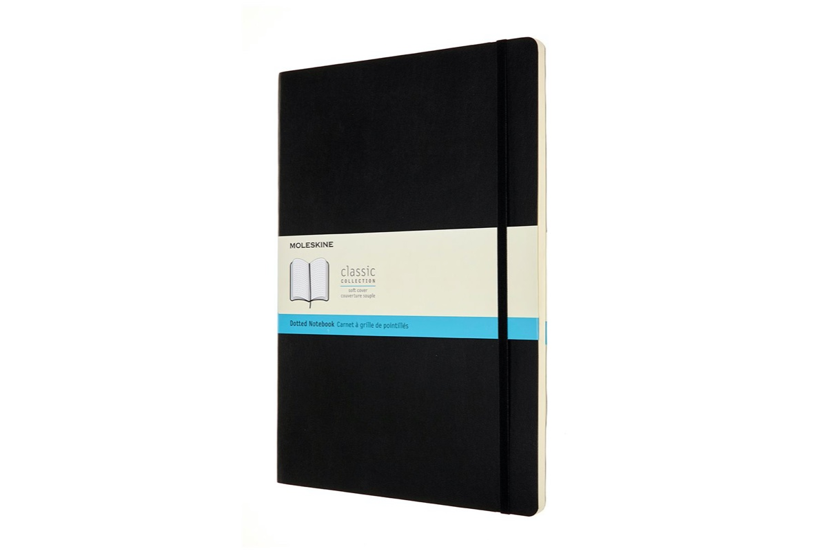 Moleskine Dotted Soft Cover Notebook A4 Black