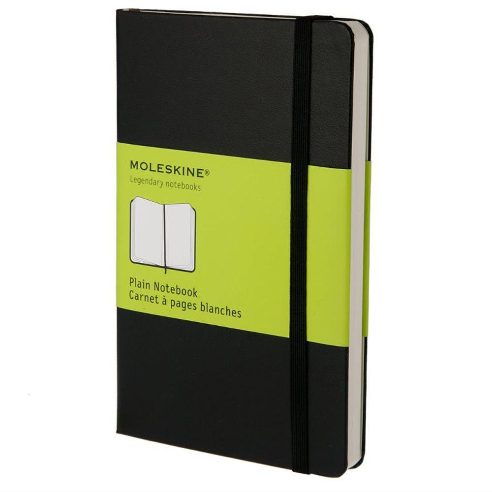 Moleskine Plain Hardcover Notebook Pocket Black