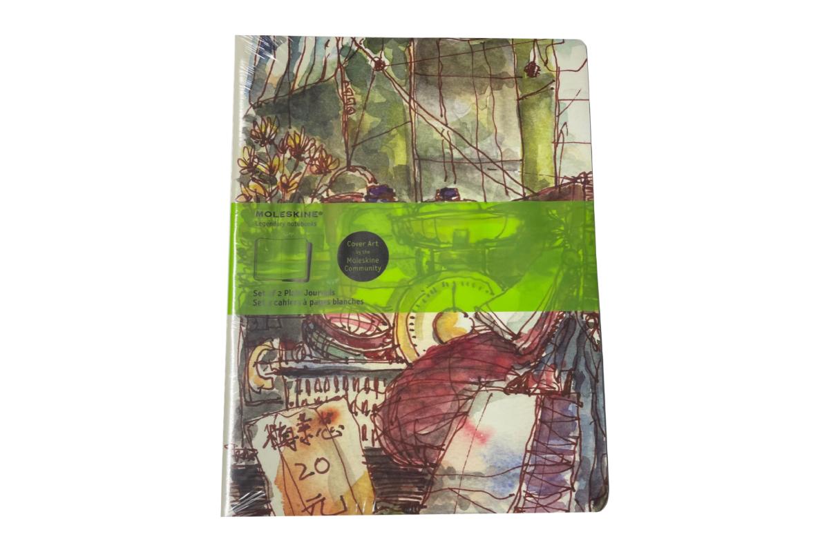 Moleskine Plain Cover Art Wet Market 2 Cahiers