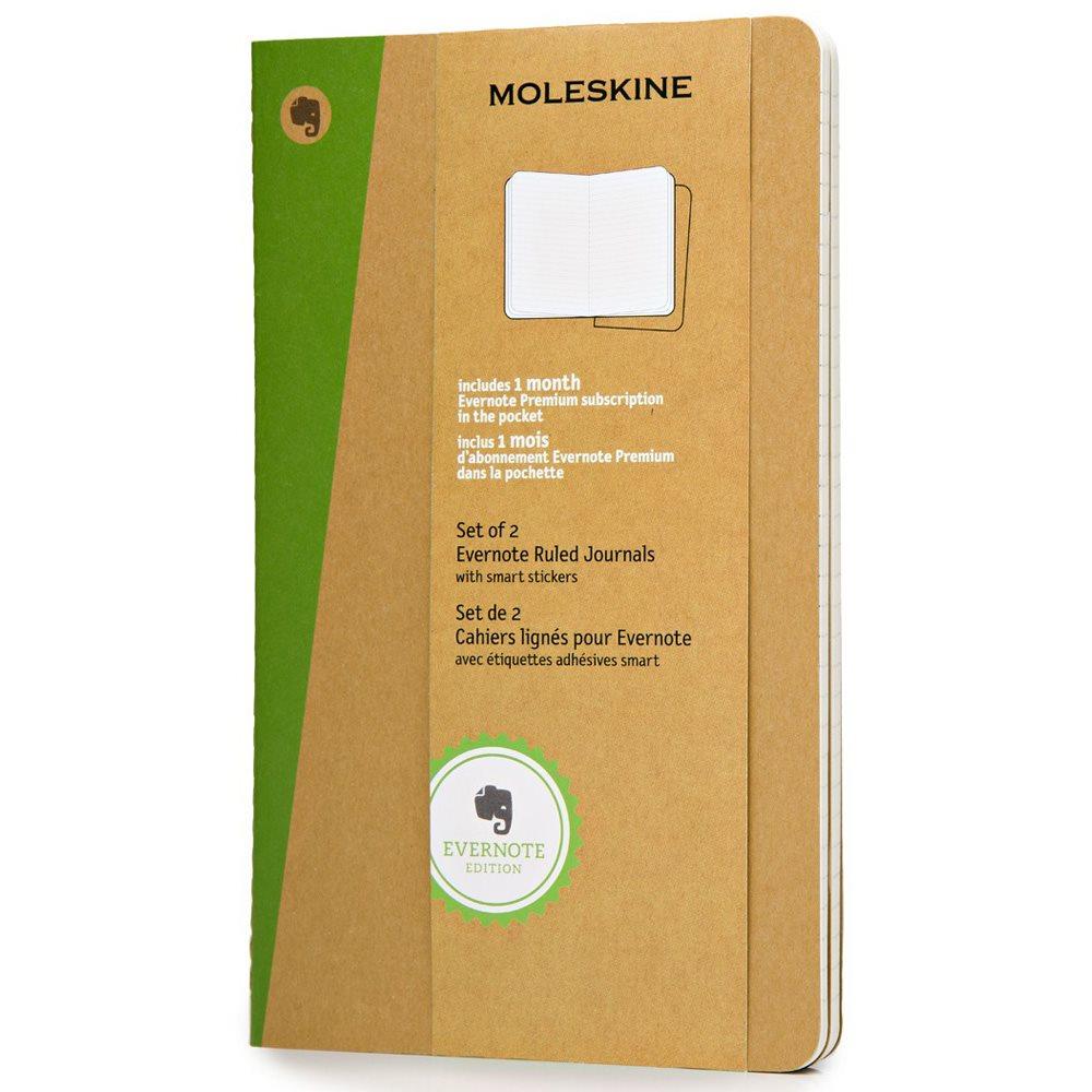 Moleskine Evernote Kraft Soft Ruled Notebook Large With Smart Stickers
