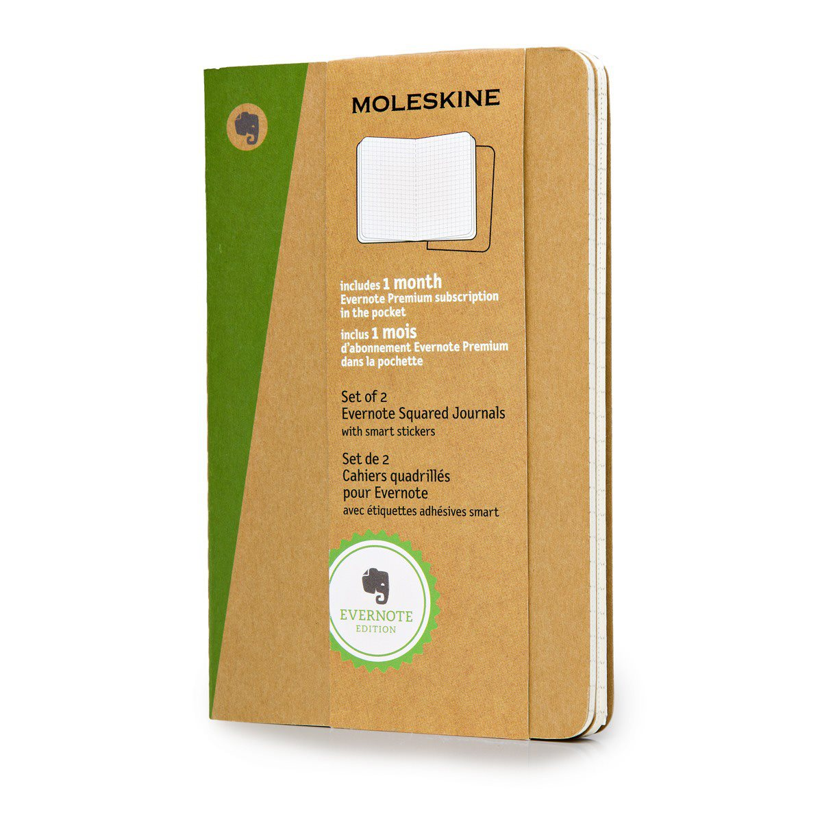 Moleskine Evernote Squared Notebook XL met Smart Stickers