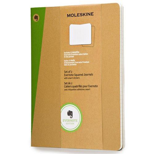 Moleskine Evernote Kraft Soft Squared Notebook XL met Smart Stickers