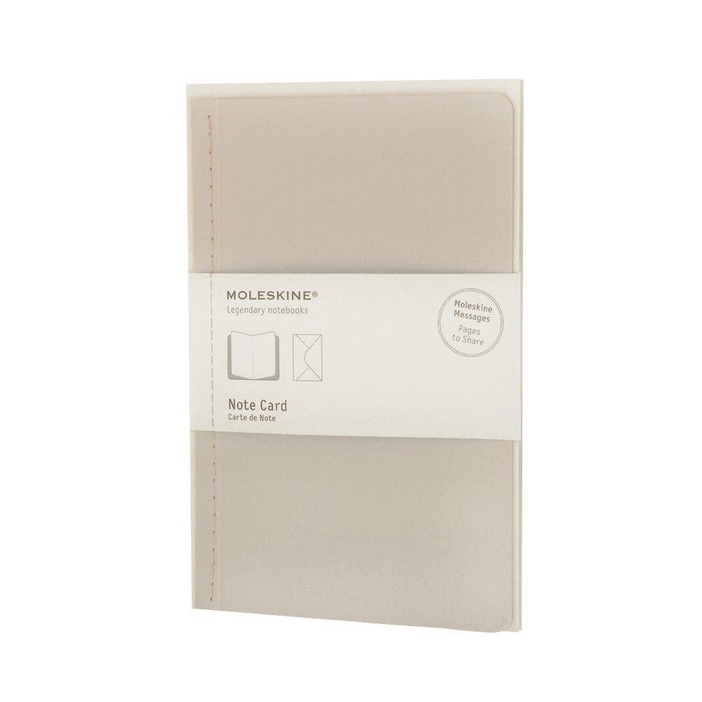 Moleskine Note Card Large Almond White