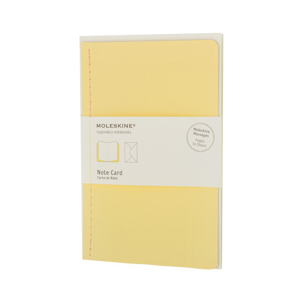 Moleskine Note Card Large Frangipano Yellow