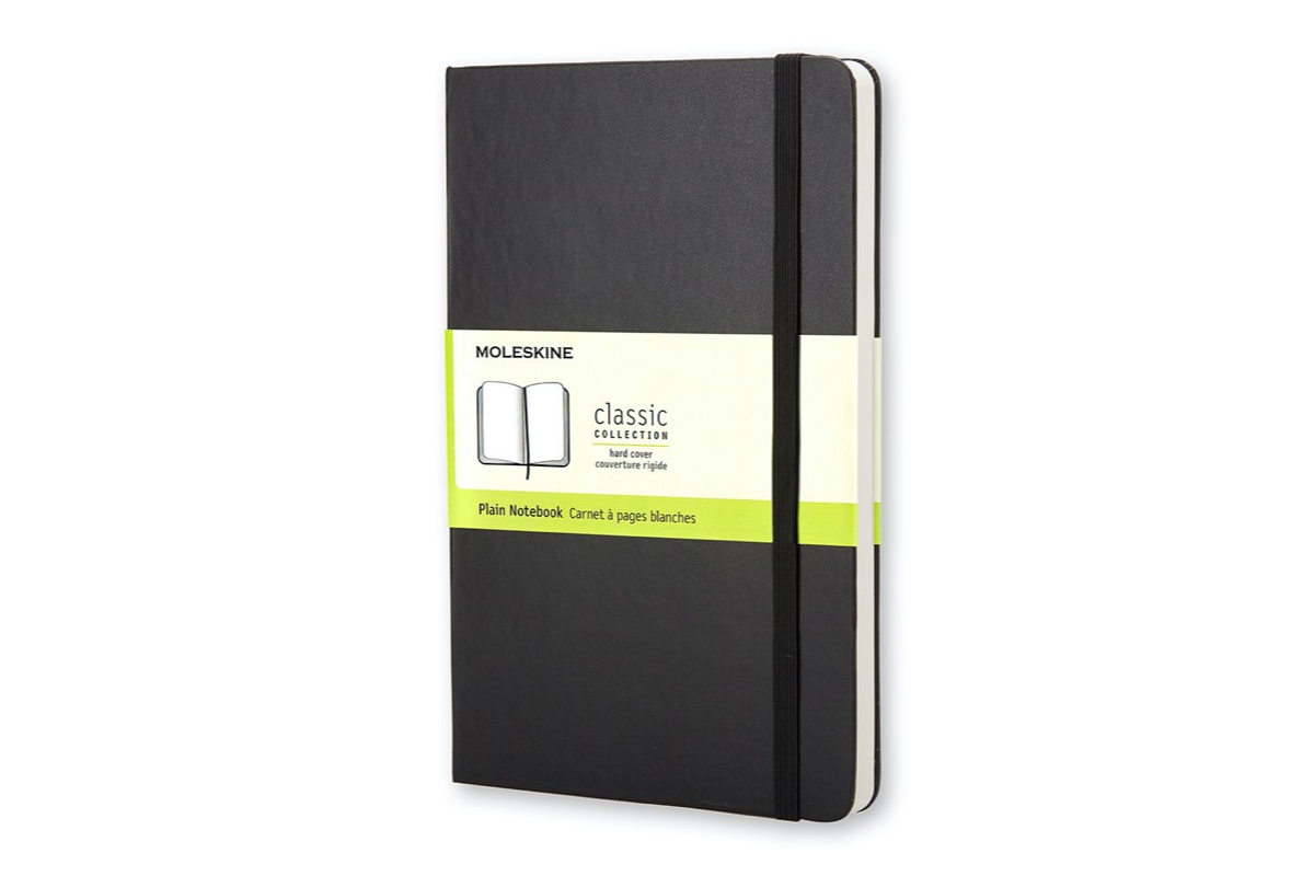 Moleskine Plain Hardcover Notebook Large Black