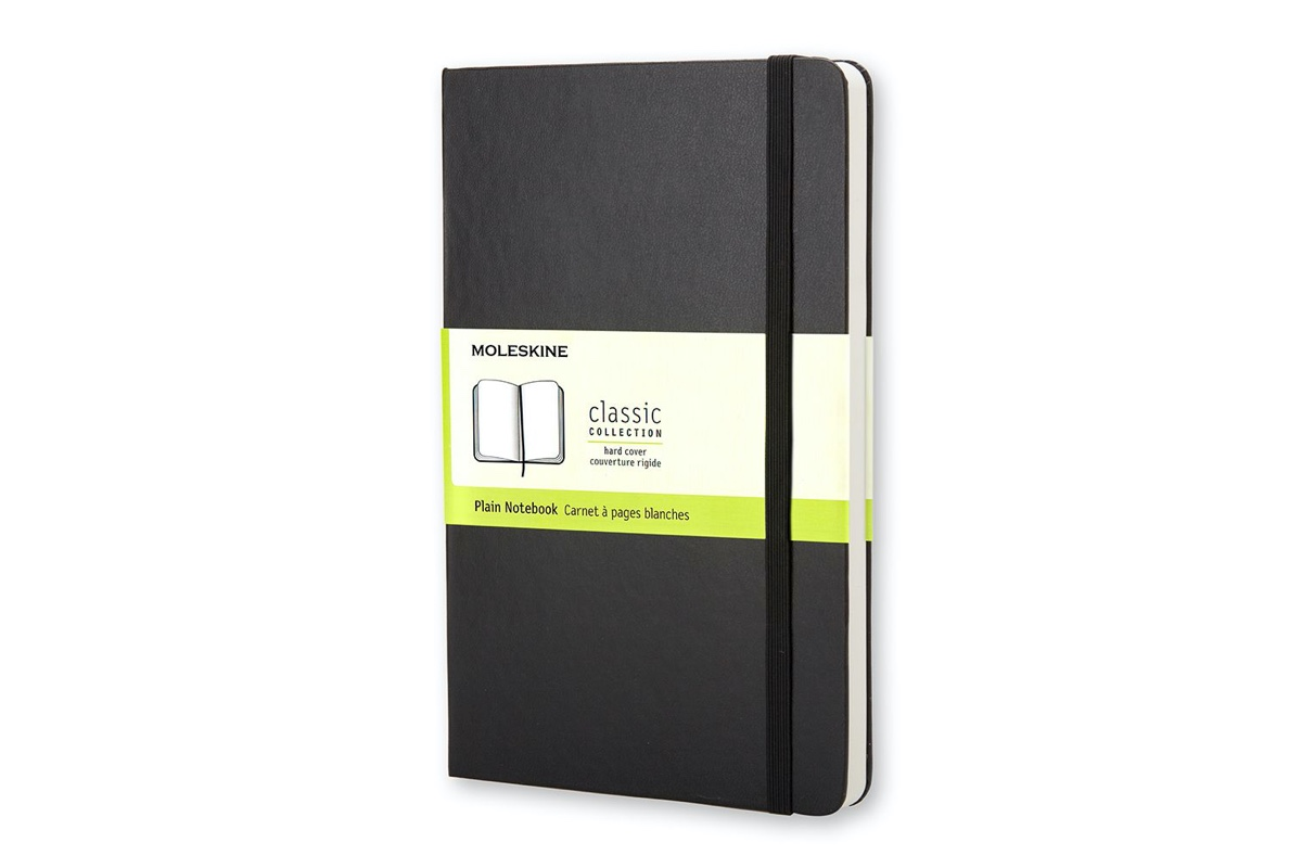 Moleskine Plain Hard Cover Notebook Pocket Black