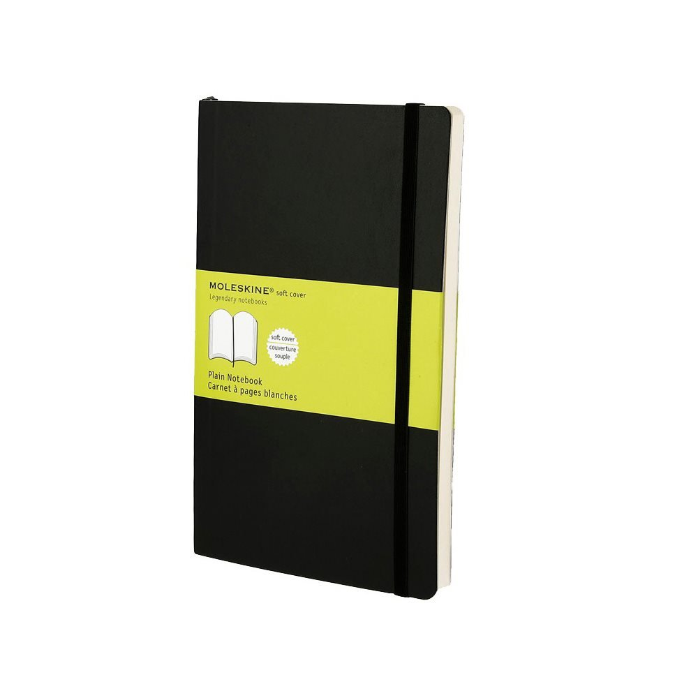 Moleskine Plain Softcover Notebook Large Black
