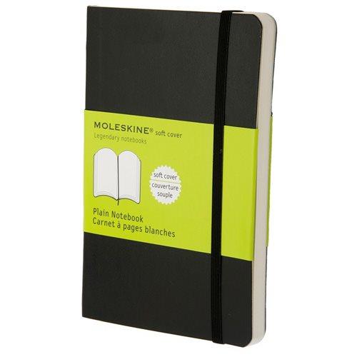 Moleskine Plain Softcover Notebook Pocket Black