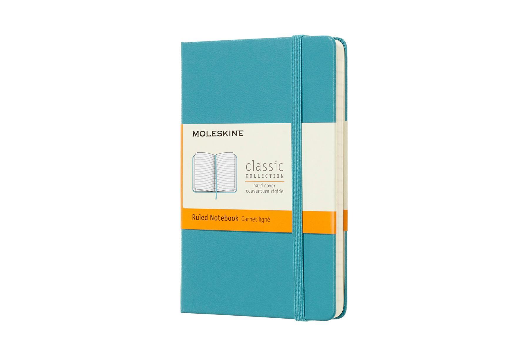 Moleskine notitieboek gelinieerd blauw