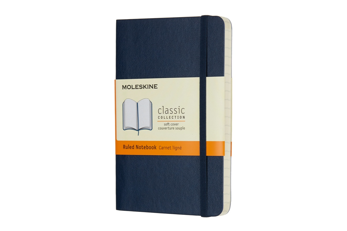 Moleskine Ruled Hardcover Notebook Pocket Sapphire Blue