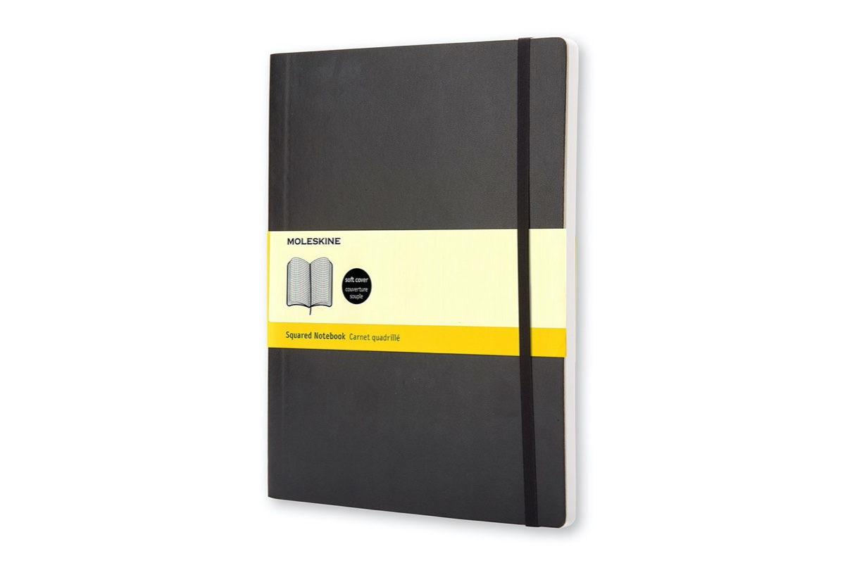 Moleskine Squared Softcover Notebook XL Black