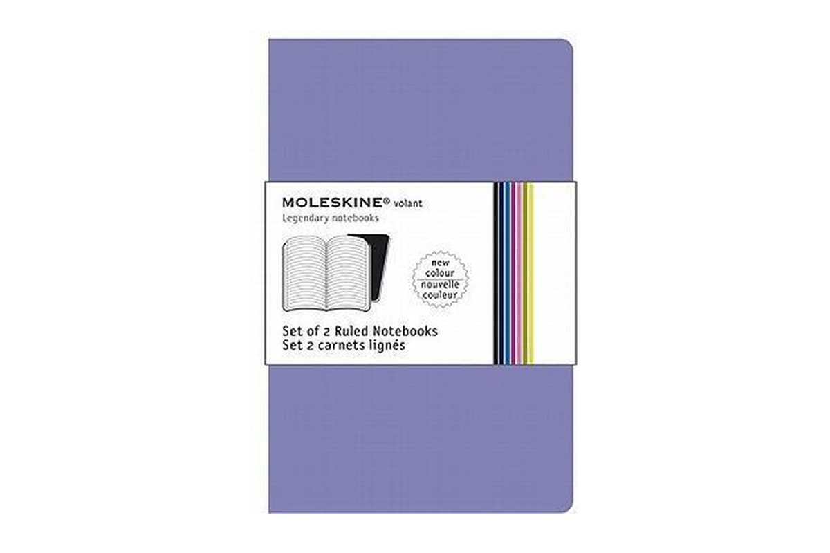 Moleskine Volant Plain Notebook Pocket Lila And Blue