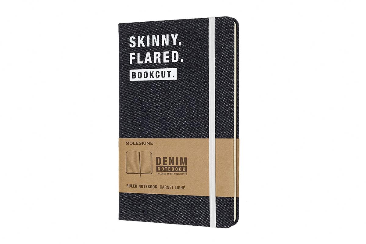 Moleskine Ruled Notebook Skinny Flared Large Denim
